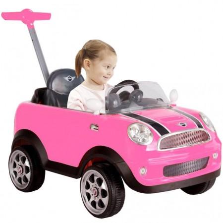 Mini Cooper Push Buggy - Pink