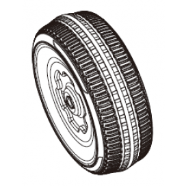 Fiat 500 Front Wheel