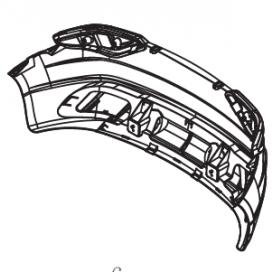 Maserati 6V Wing Rear Bumper