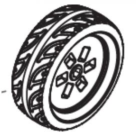 Maserati 6V Rear Wheel
